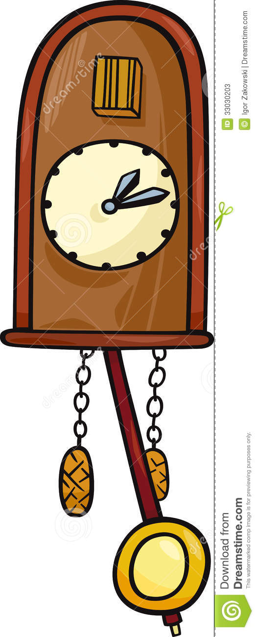 Cuckoo Clock Clip Art Cartoon Illustration Stock Photos   Image