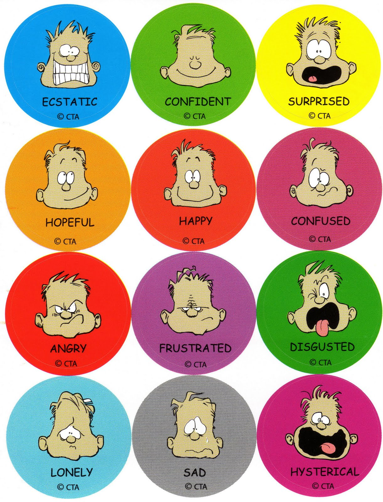 Emotions Faces For Kids   Hot Clouds Com