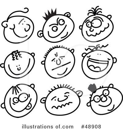 Faces Clipart  48908 By Prawny   Royalty Free  Rf  Stock Illustrations