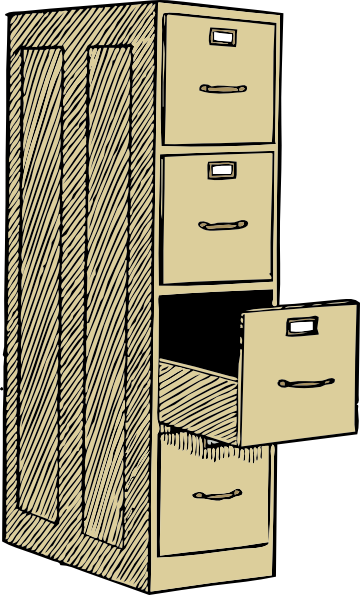 File Cabinet With Drawes Clip Art At Clker Com   Vector Clip Art