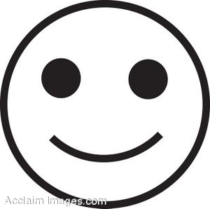 Happy Face Symbol Clip Art