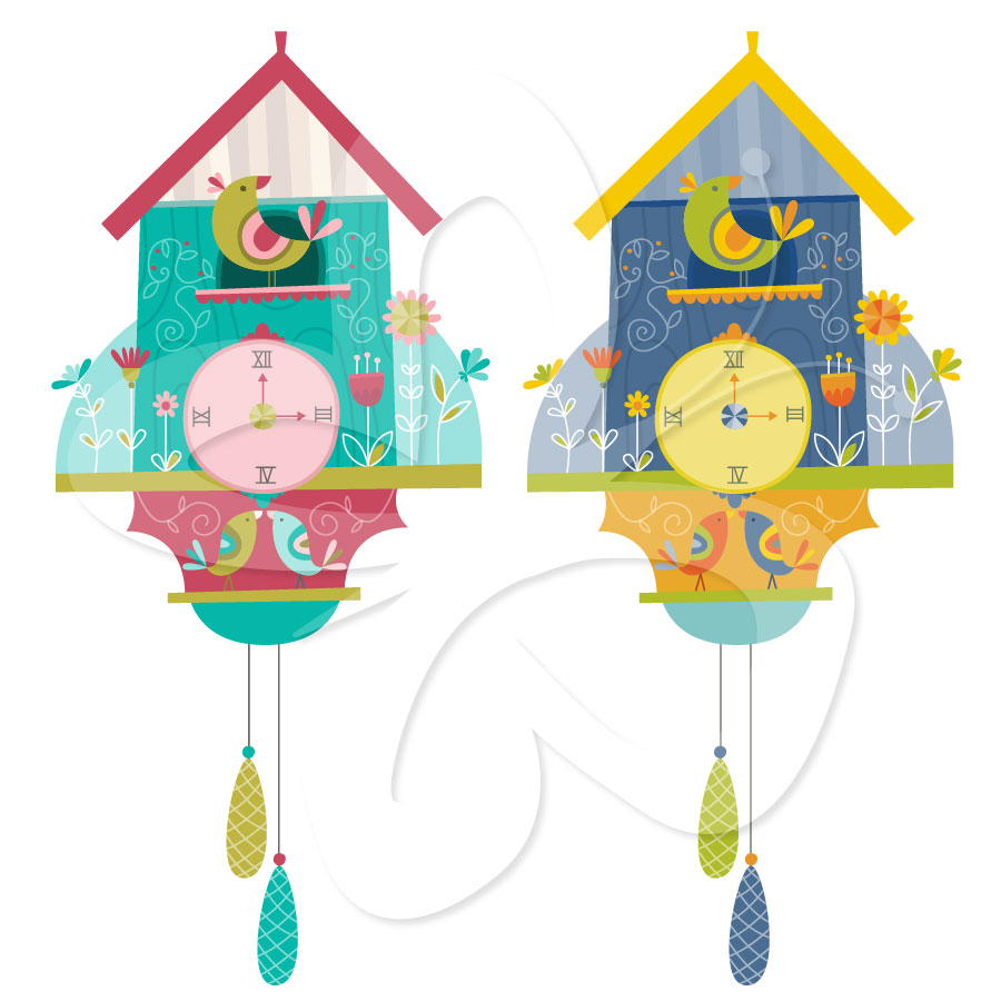 Home   All Clip Art   Cuckoo Clock Clipart Set