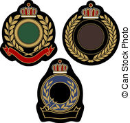Insigina Emblem Badge Shield   Classical Insigina Emblem