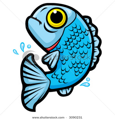 Jumping Cartoon Fish Vector Clip Art Picture   Free Images At Clker