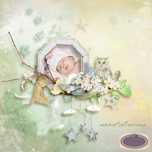 Lovely Sleeping Baby Images White Clouds   Sweet Dreams Clipart Scrap