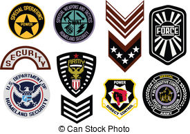 Military Badge Logo   Emblem Shield Military Badge Logo