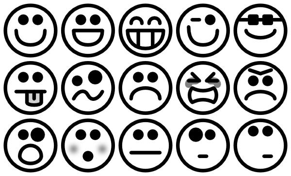 Outline Smiley Icons Clip Art At Clker Com   Vector Clip Art Online