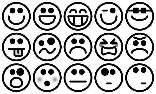 Outline Smiley Icons Clip Art At Clker Com   Vector Clip Art Online