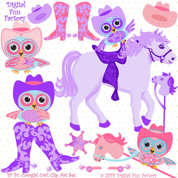 Owls Clipart Cowboy Cowgirl Clipart Horse Clip Art Western Clipart