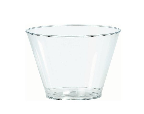 Clear Double Wall Glass Cup On White Background