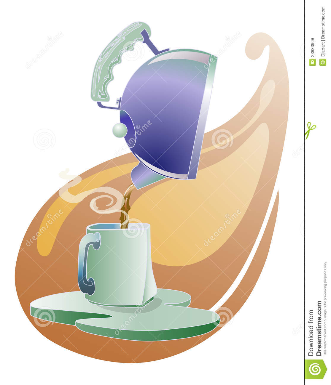 Pouring Tea Clipart Teapot Pouring Tea To The Cup