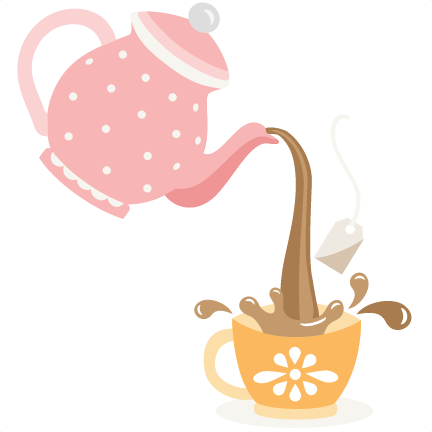Pouring Tea Pot Svg Cutting Files For Scrapbooking Cute Files Cute