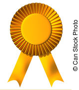 Ribbon First Place Award   Yellow Ribbon First Place Award