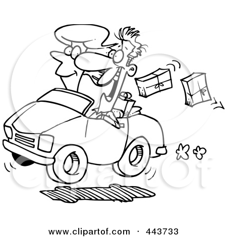Royalty Free  Rf  Clip Art Illustration Of A Cartoon Black And White