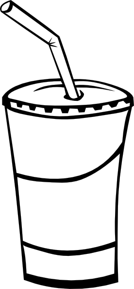 Soft Drink In A Cup  B And W  Clip Art At Clker Com   Vector Clip Art