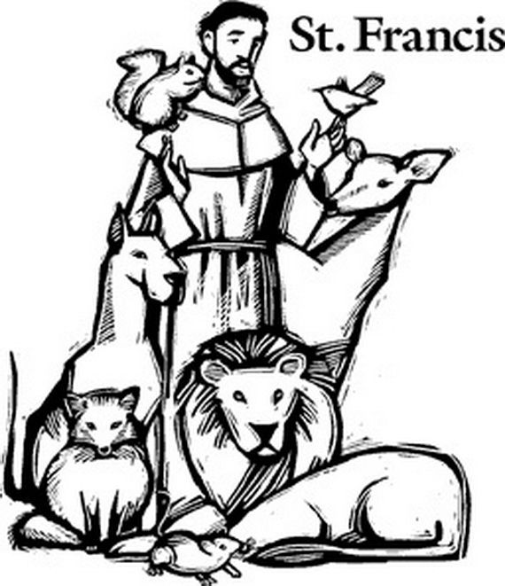 St  Francis Of Assisi Catholic Coloring Page  Feast Day Is October 4th