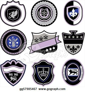 Stock   Classic Sport Emblem Badge Shield  Stock Clip Art Gg57985467