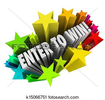 Stock Photography Of Enter To Win Stars Fireworks Contest Raffle Entry