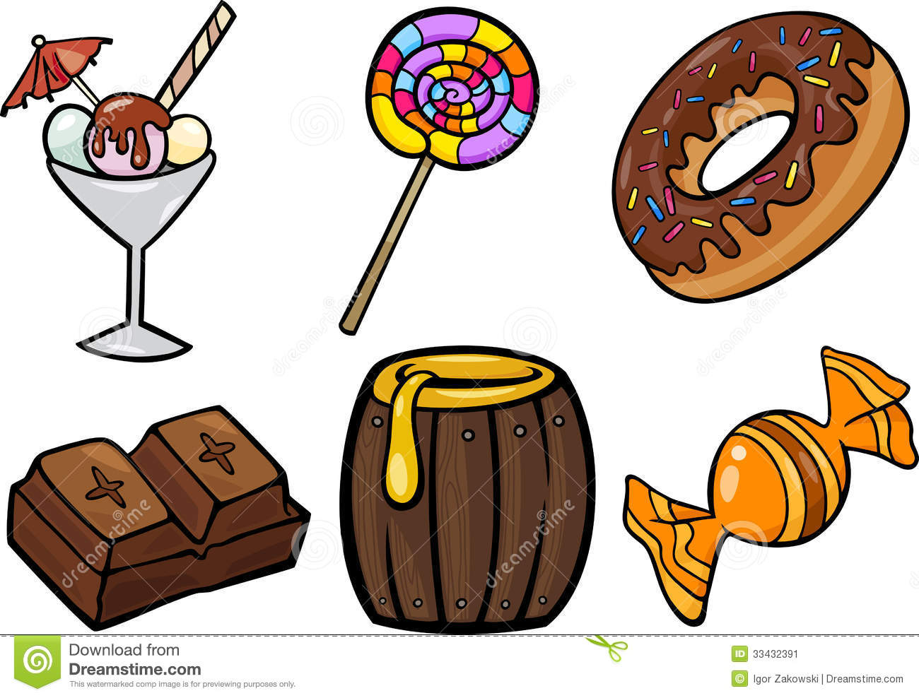 Sweet Food Clipart Sweet Food Objects Cartoon
