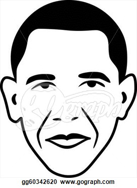 Vector Clipart   Vector Barack Obama   President Of Usa  Vector