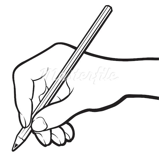 Writing Clip Art Black And White   Clipart Panda   Free Clipart Images