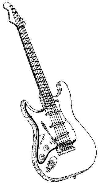 Www Wpclipart Com Music Instruments Guitar Electric Guitar Bw Png Html