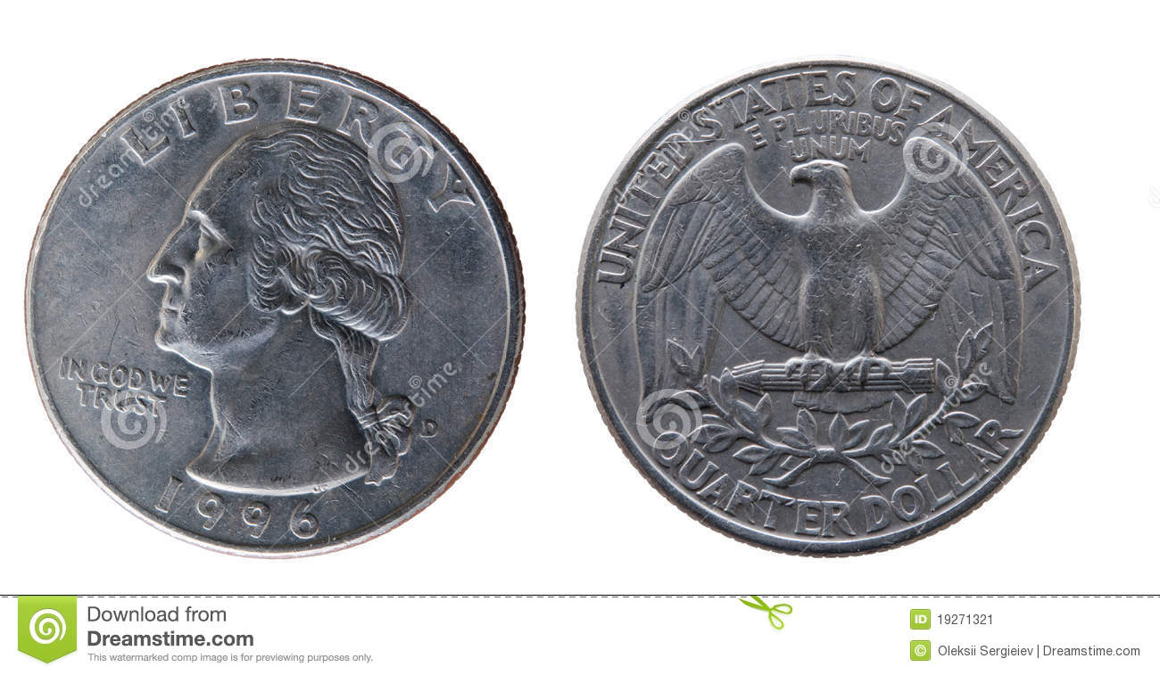25 Cents U S  Stock Image   Image  19271321