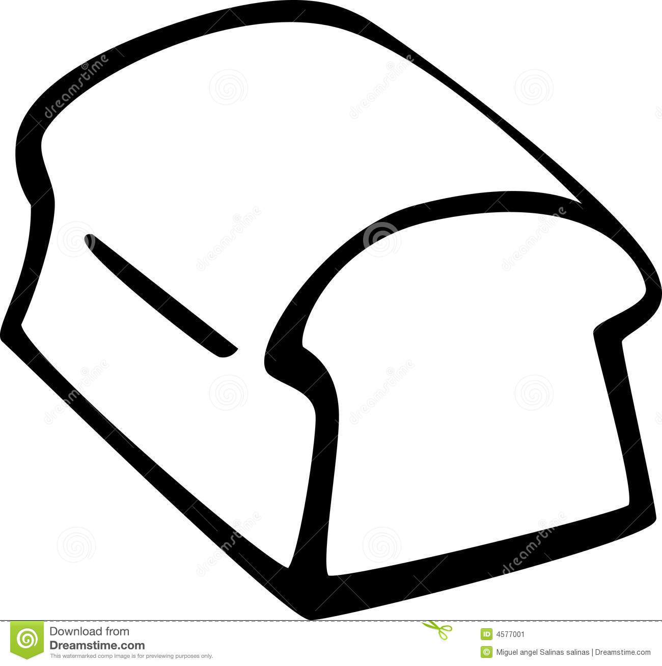 Bread Loaf Vector Illustration Stock Image   Image  4577001