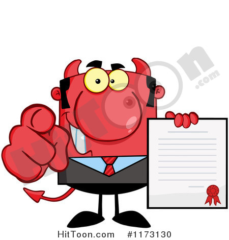 Cartoon Clipart Devil Pointing   Genuardis Portal