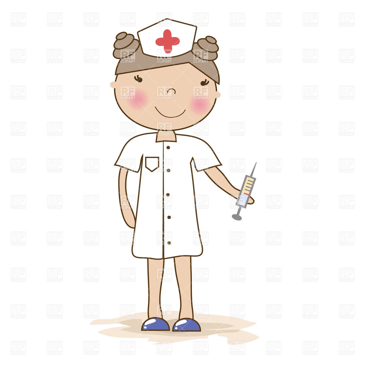 Cartoon Young Nurse With A Syringe 22637 People Download Royalty