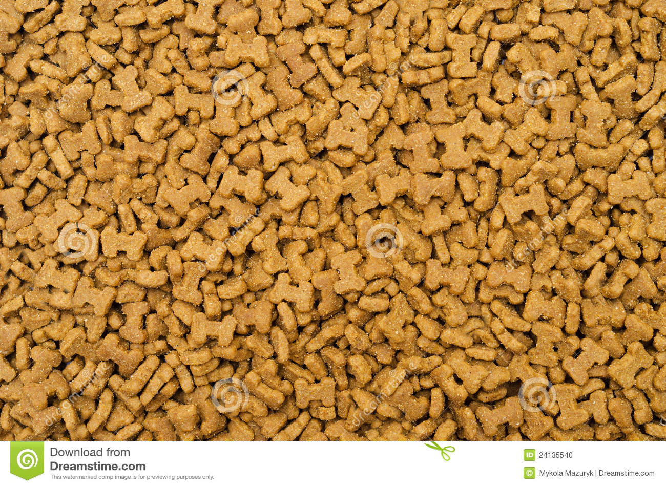 Dry Cat Food As Textured Background