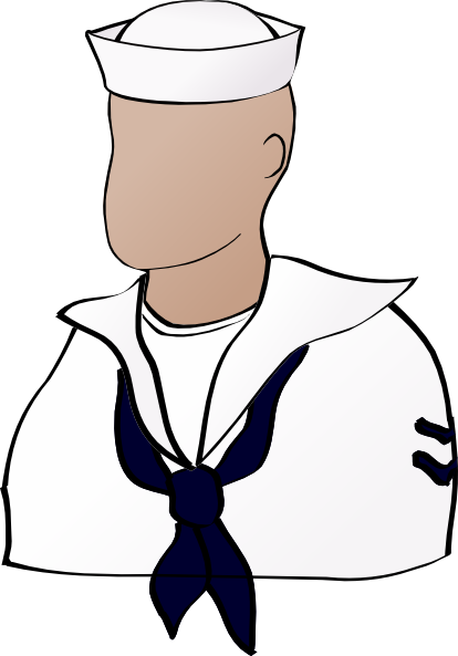 Faceless Sailor Clip Art