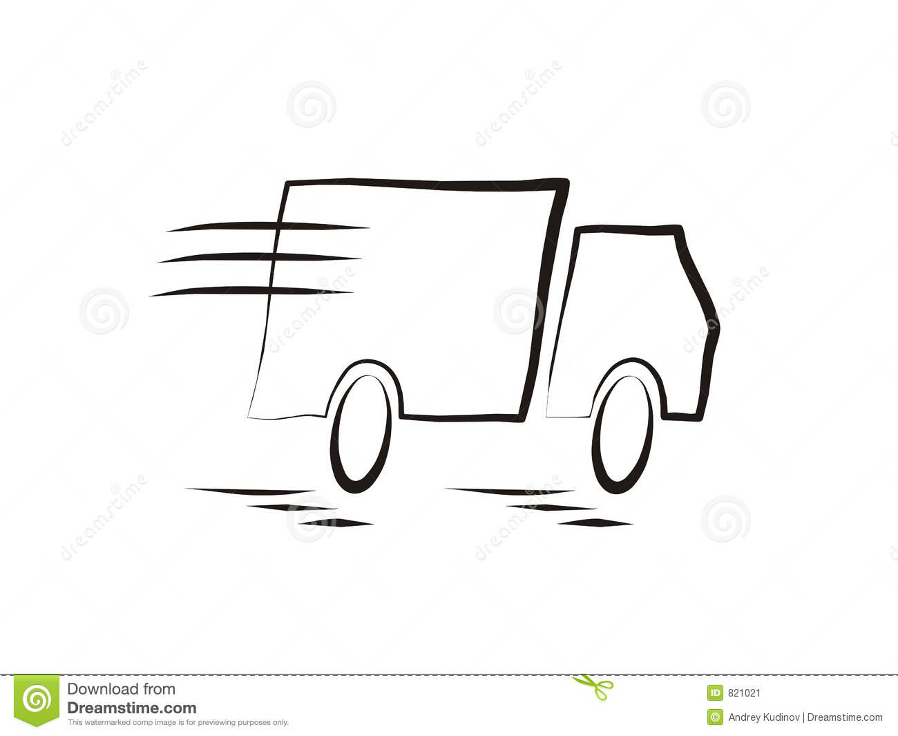 Fast Moving Truck Stock Image   Image  821021