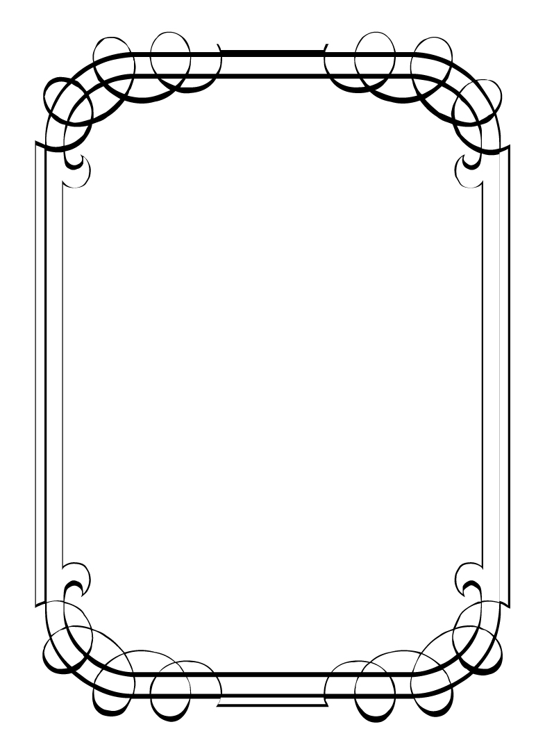 free vintage clip art images calligraphic frames and borders
