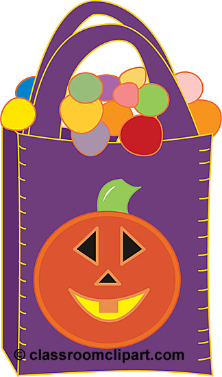 Halloween   Halloween Bags With Candy   Classroom Clipart