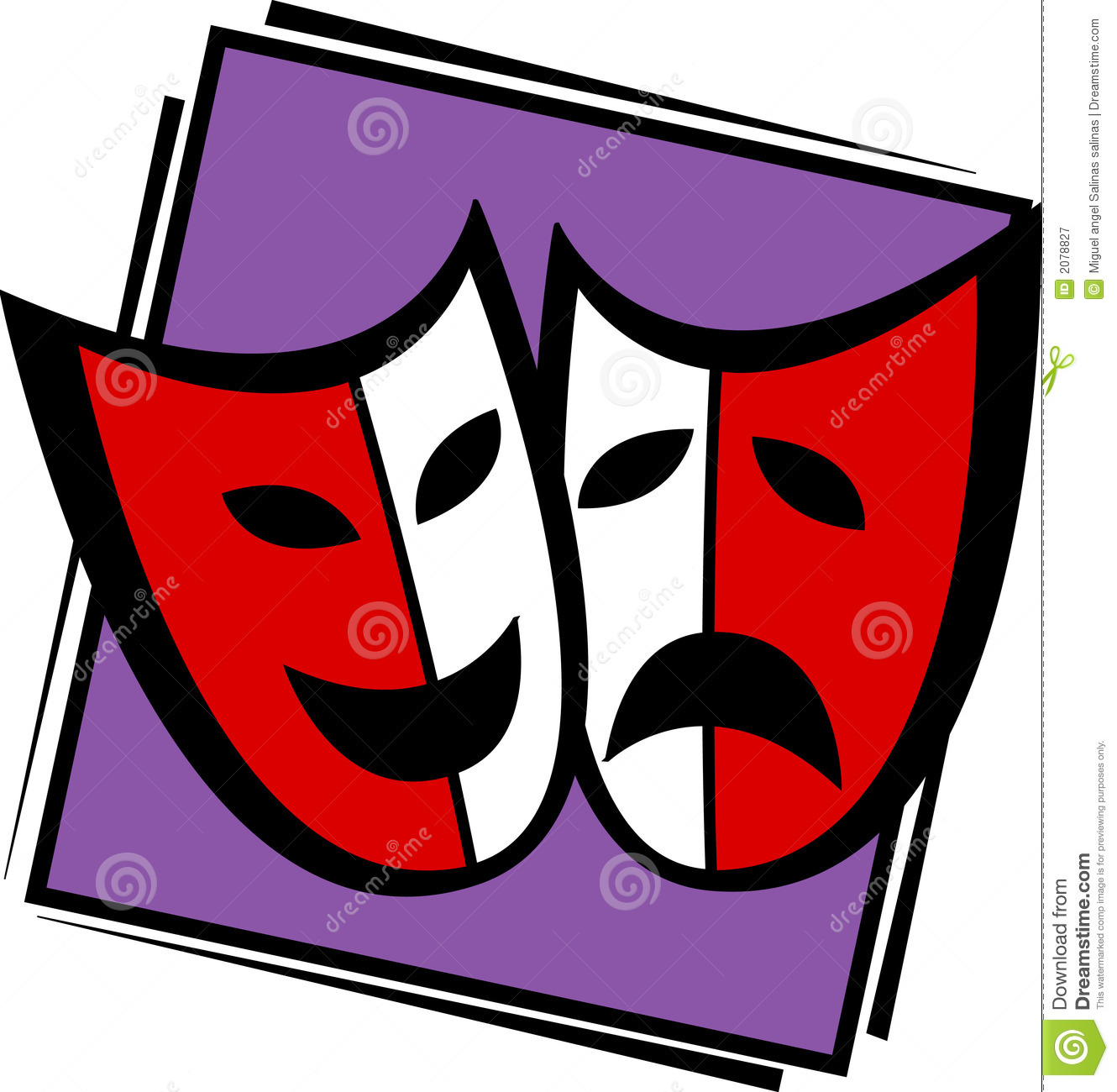 Illustration Of Two Theater Or Drama Masks Mr No Pr No 5 5637 28