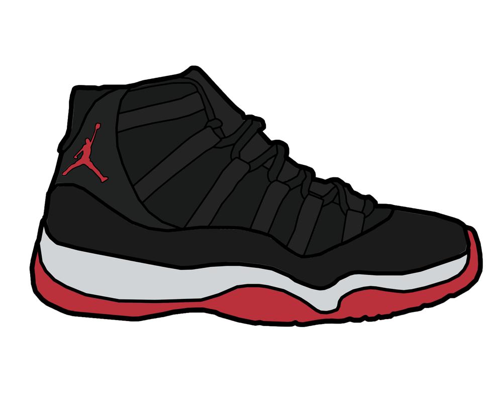Jordan Shoes Clipart - Clipart Kid