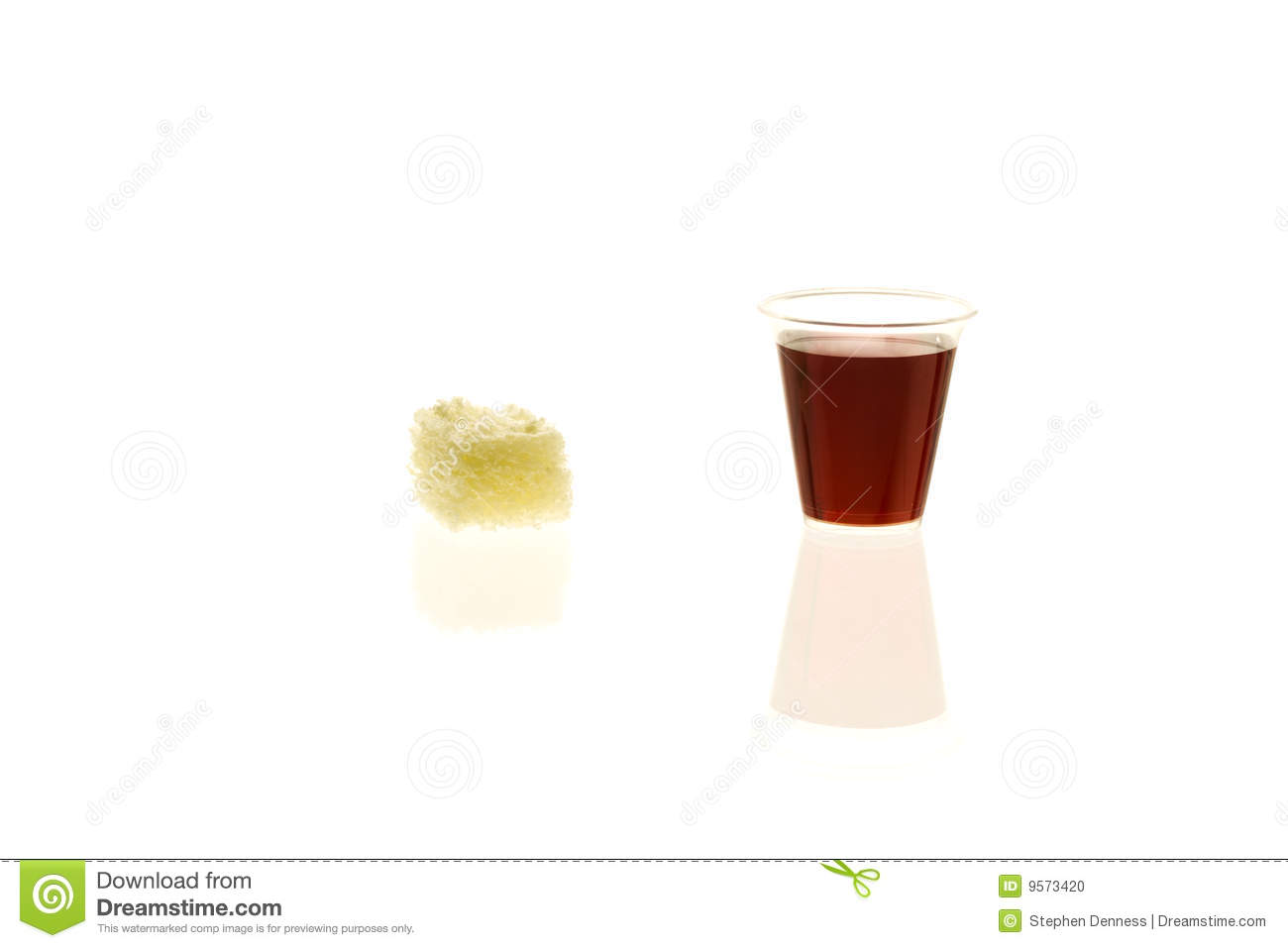 More Similar Stock Images Of   Individual Communion Cup With Bread