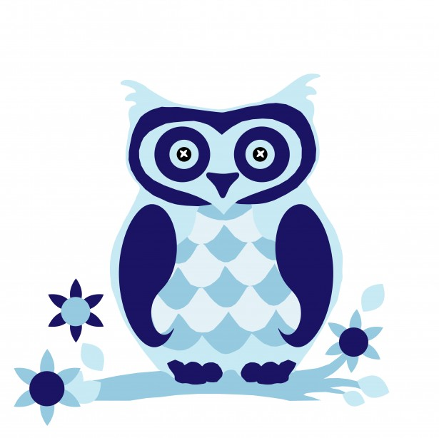 Owl Clipart Cute Blue By Karen Arnold