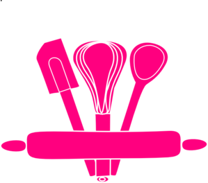 Pink Kitchen Utensils Clip Art At Clker Com   Vector Clip Art Online
