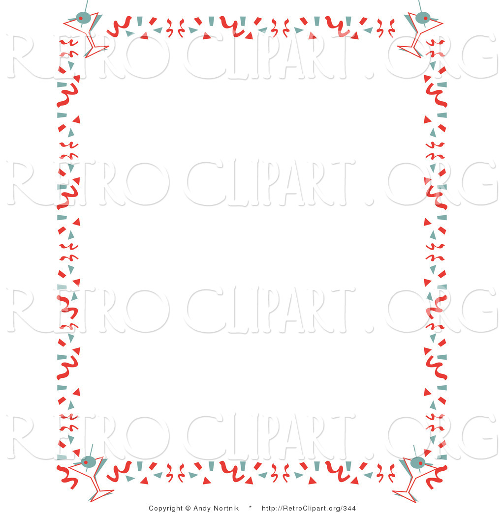 Preview  Retro Clipart Of A Red Stationery Background Of With A Border