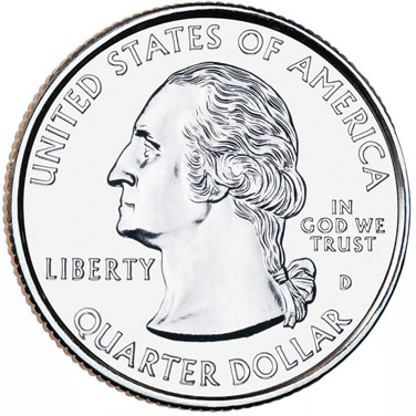 Quarters Minted One In Philadelphia And One In Denver  The Only