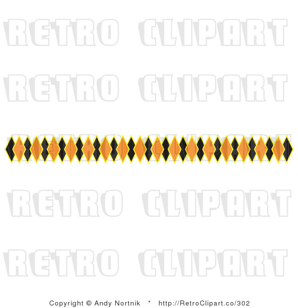 Retro Clipart Illustration Of A Halloween Border  This Stock Retro