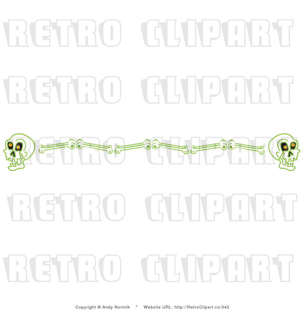 Skull Border Retro Royalty Free Vector Clipart By Andy Nortnik    342