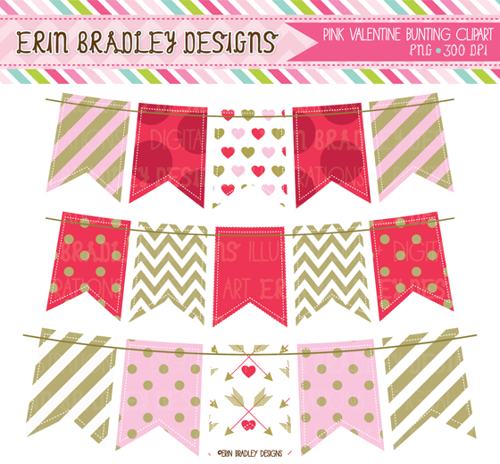 Valentines Day Clipart And Digital Papers