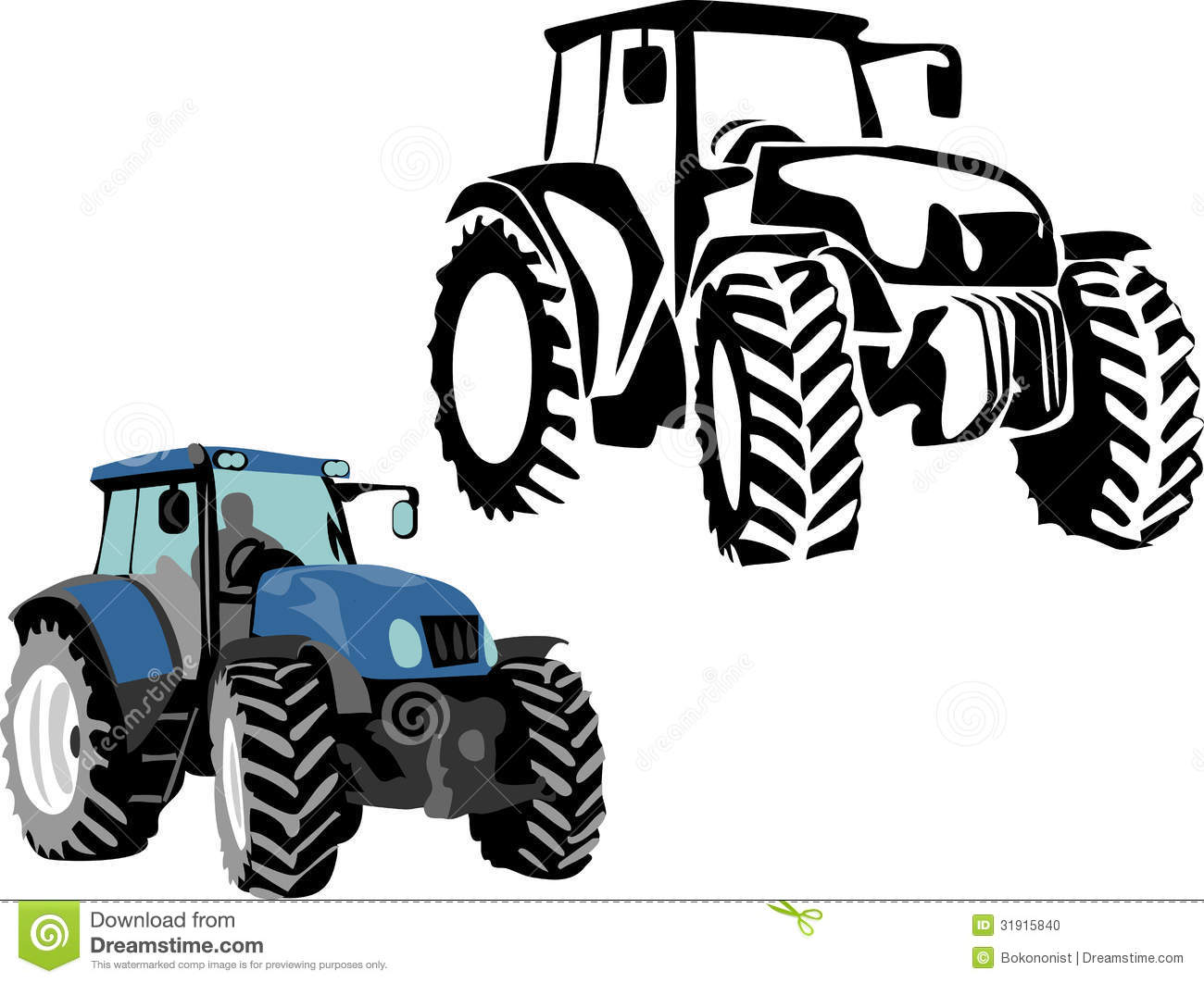 Blue Tractor Clipart   Clipart Panda   Free Clipart Images