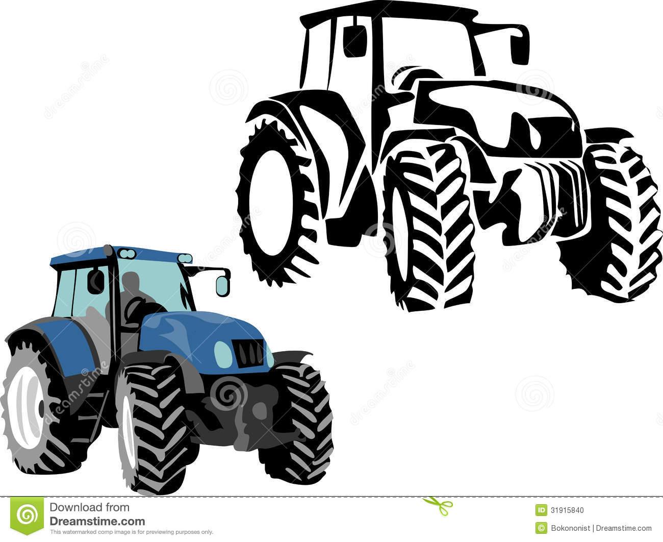 Blue Tractor Clipart Clipart Panda