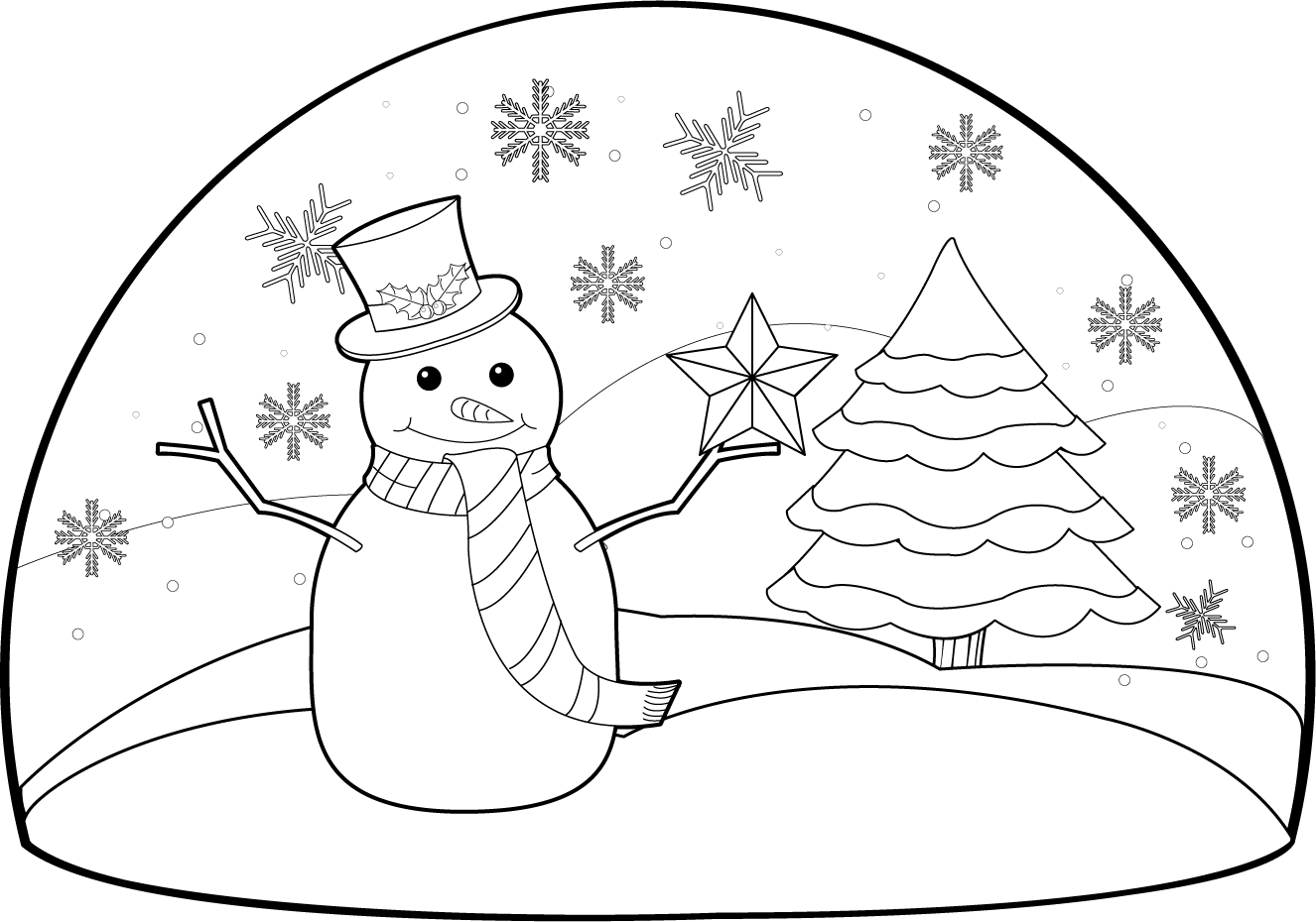 Clip Art Black And White Winter Scenes Clipart - Clipart Kid