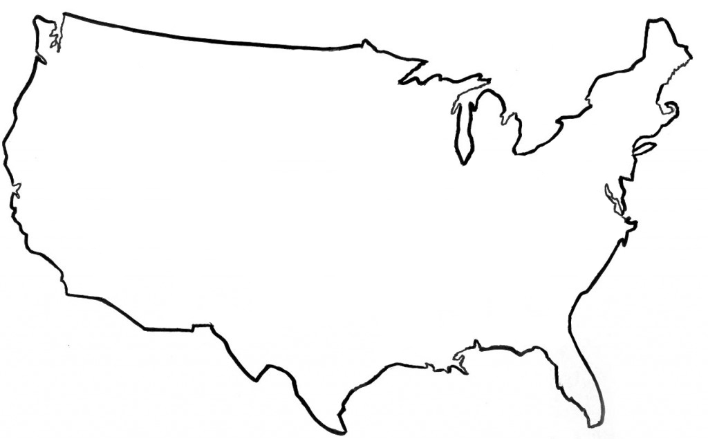 Clip Art Black And White United States Clipart Clipart Kid – Map Usa Black and White