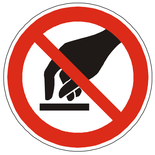 Do Not Touch Clipart - Clipart Suggest